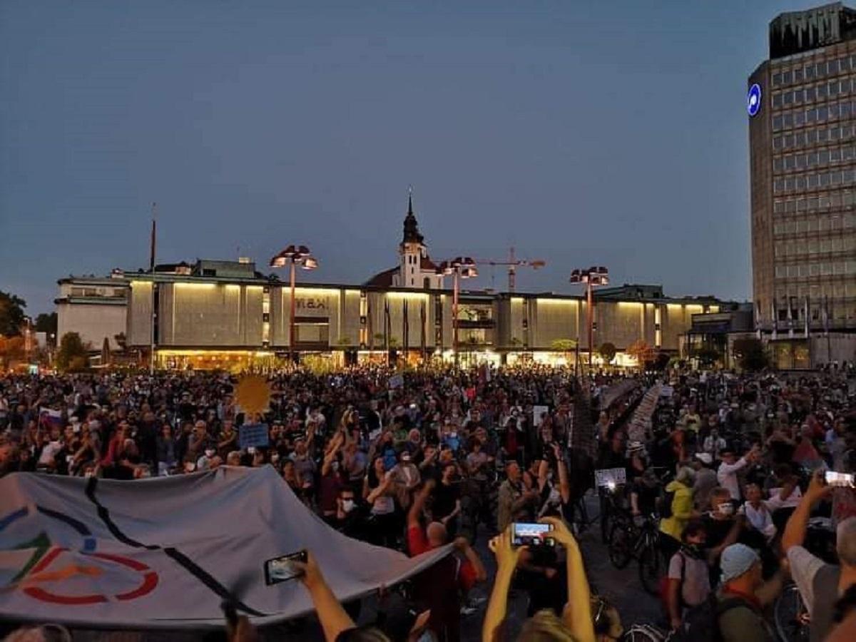 Slowenien – Die Rolle der antiautoritären Linken in der Protestbewegung in Zeiten von Corona