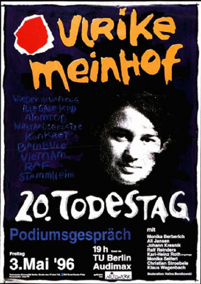 Veranstaltung zum 20. Todestag von Ulrike Meinhof