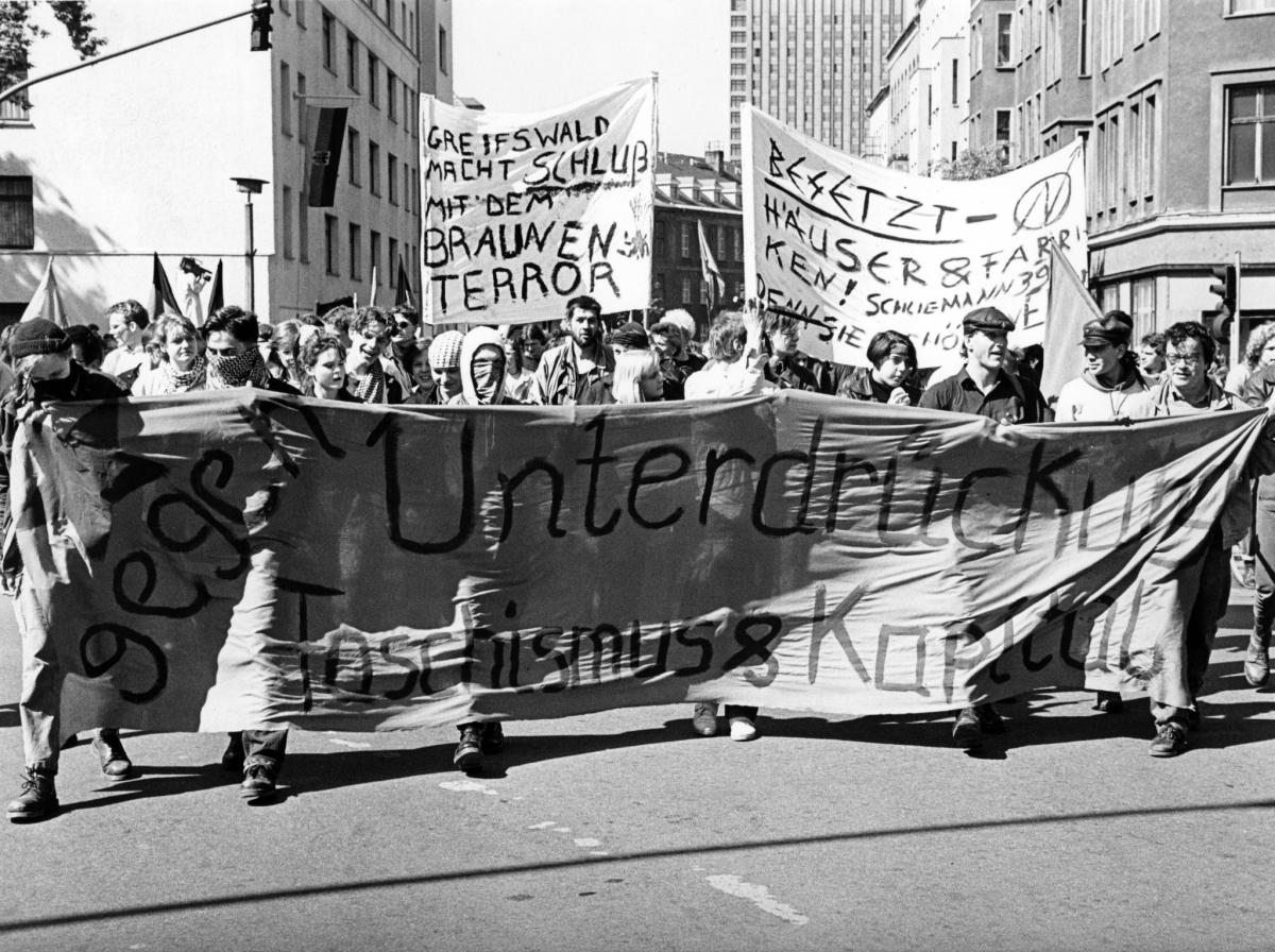 Unabhängige Erste Mai Demo Ostberlin 1990
